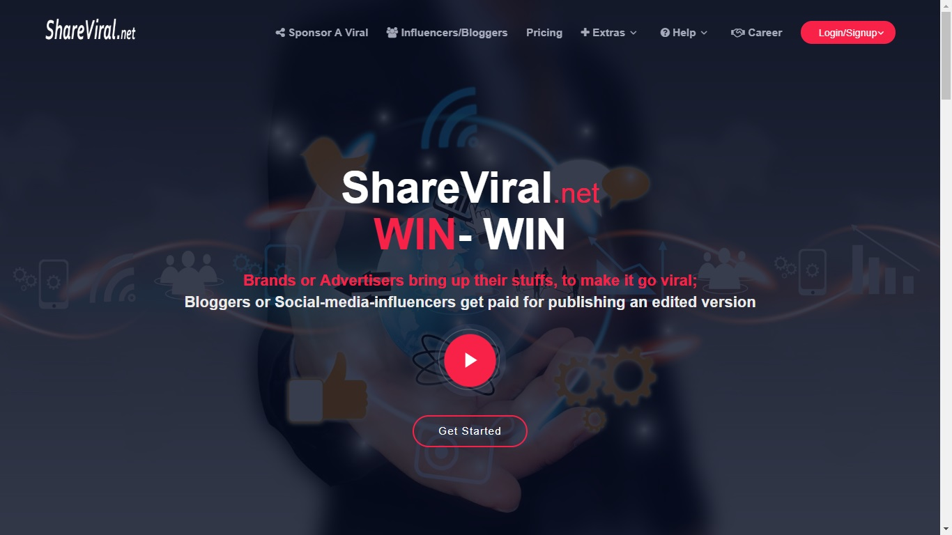 ShareViral.net Screenshot